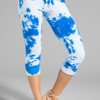 291 Cropped Track Pant in Cow Blue