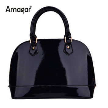 2016 New women's patent leather bags handbags famous brands shell bags ladies hand bags luxury handbags women bags designer