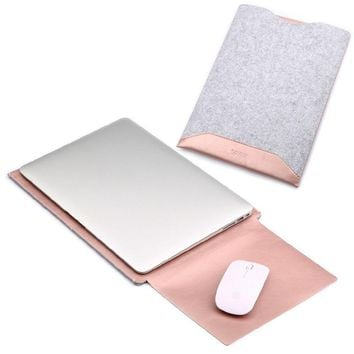 "11"" 12"" 13"" 15"" Leather Envelope Laptop Bag Cover Case Sleeve For MacBook Air Pro"