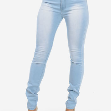 Cute Jeans-Trendy Skinny Jeans-High rise stone wash jeans