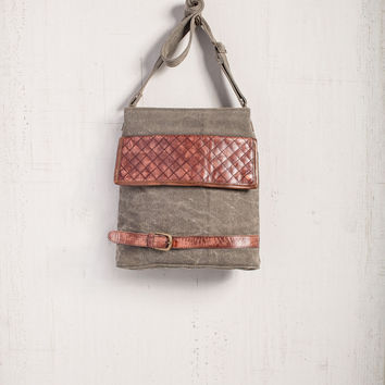 MONA B MELROSE RECYCLED CANVAS BAG PURSE