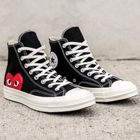 CDG PLAY CONVERSE CHUCK TAYLOR ALL-STAR '70 HIGH