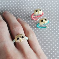 Beaded Owl Wrap Rings ~ 3 Colors! from JuicyDealz