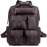 Rugged Tech Espresso Leather Backpack