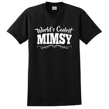 World's coolest mimsy Mother's day birthday gift ideas for new grandma proud grandmom gifts for her T Shirt