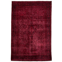 "Antique Overdyed Ruby Rug 11'0"" x 7'9"""