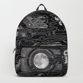Moon Glow Backpack by brendaerickson