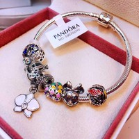 Authentic Pandora Women Fashion Crystal Plated 925 Sterling Silver Inspirationa Bracelet Jewelry