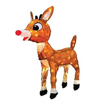 Rudolph the Red-Nosed Reindeer® Mixed Licensed 3D Yard Art Sculptures, 24 In.