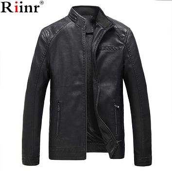 Motorcycle Leather Jackets Men Autumn and Winter Leather Clothing Men Leather Jackets Male Business Casual Coats