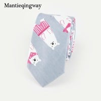 6cm Polyester Cartoon Animals Pattern Neckties for Wedding Party Jacquard Tie for Mens Slim Gravatas Corbatas Collar Neck Ties