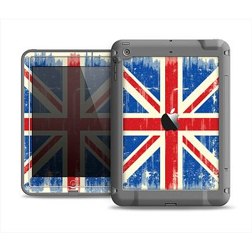 The Grunge Vintage Textured London England Flag Apple iPad Air LifeProof Fre Case Skin Set