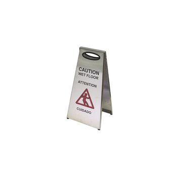 Frost Stainless Steel Wet Floor Caution Sign