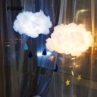 DIY Handmade Cute Cotton Cloud Shape Light Hanging Night Light