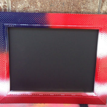 Framed Chalkboard, Red White and Blue Chalkboard, USA Decorations, 4th of July Decorations, Red White and Blue Frame, Summer Clearance Sale!