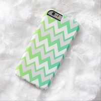 Chevron lime teal aqua ombre iPhone 6 case
