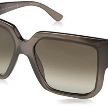Gucci Women's GG 3713/S Opal Gray/Brown Gradient