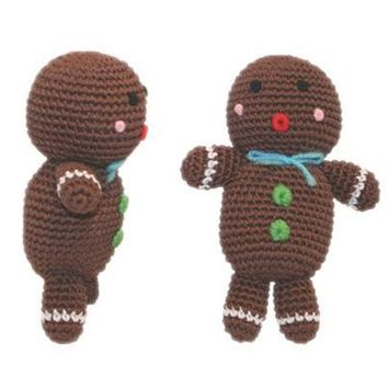 Holiday Knit Knacks Ginger The Man Organic Cotton Small Dog Toy