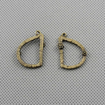 3x Jewellery Supply Supplies fabrication bijoux anhaenger Jewelry Findings Charms Schmuckteile Charme 5-A23299-D Letter D