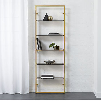 "tesso bronze 84"" wall mounted bookcase"