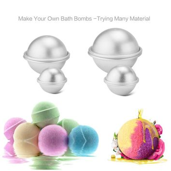 6Pcs Metal Aluminum Alloy Bath Bomb Mold 3D Ball Sphere Shape DIY Bathing Tool Accessories