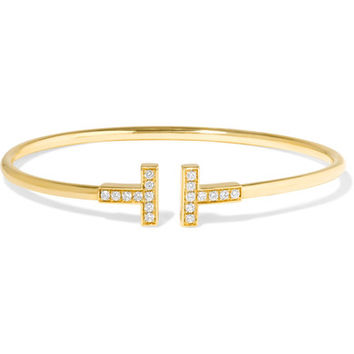 Tiffany & Co - T Wire 18-karat gold diamond bracelet