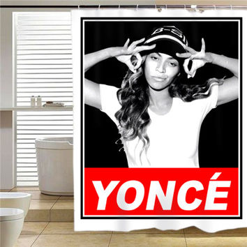 beyonce yonce obey style  shower curtain