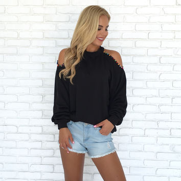 Colors of the Wind Sweater in Black