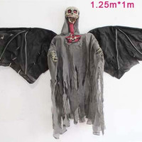 Free shipping,halloween hanging ghost with black wing(125cm*100cm),halloween decoration in haunted house ,bar