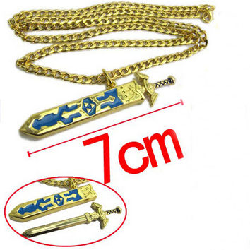 Legend of Zelda Removal Master Swword Long Chain Pendant Necklace 7CM