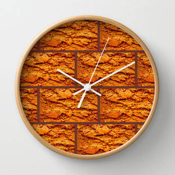Brick house Wall Clock by Bruce Stanfield