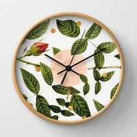 Leaves + Dots Wall Clock by Anna Dorfman