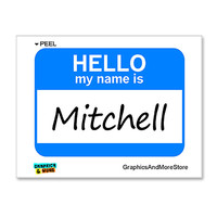 Mitchell Hello My Name Is Sticker