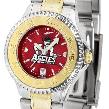 New Mexico State Aggies Competitor Ladies Two-Tone AnoChrome Watch