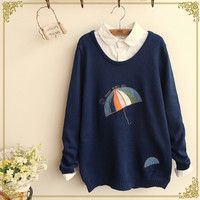 Japanese winter knit sweater