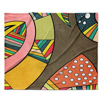 "Danny Ivan ""Cosmic Aztec"" Fleece Throw Blanket"