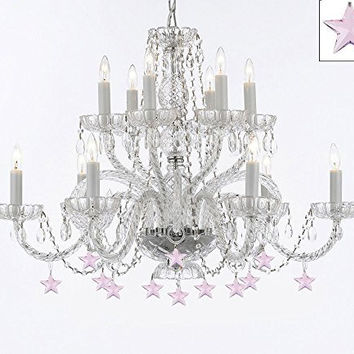 Murano Venetian Style All Empress Crystal (Tm) Chandelier With Stars - A46-B38/385/6+6