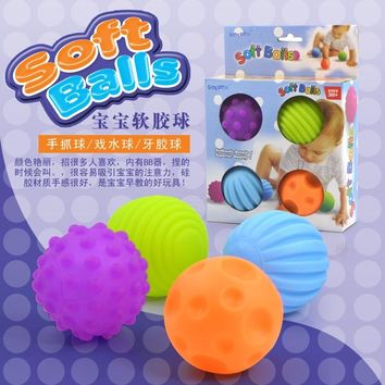 Baby touch hand ball sound kid massage soft ball children's educational toys