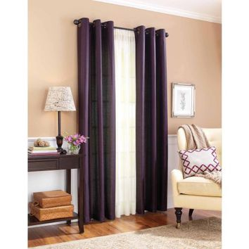 Better Homes and Gardens Solid Faux Silk Window Curtains - Walmart.com