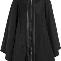 Live The Process - Satin-paneled stretch-jersey hooded cape