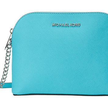 MICHAEL Michael Kors Cindy Large Dome Crossbody Aquamarine - Zappos.com Free Shipping BOTH Ways