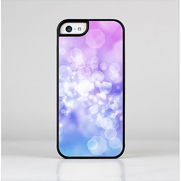 The Blue and Purple Translucent Glimmer Lights Skin-Sert Case for the Apple iPhone 5c