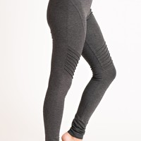 Right Or Wrong Moto Leggings (Charcoal)