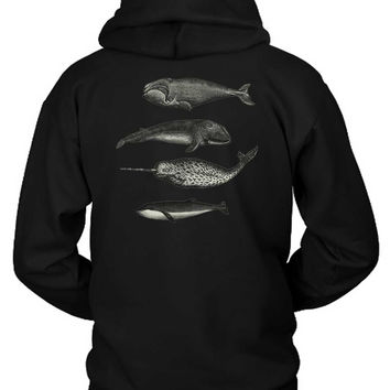 Killer Whale Graphic Hoodie Two Sided
