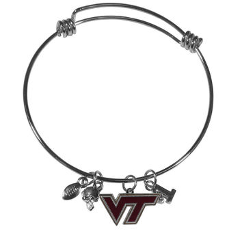 Virginia Tech Hokies Charm Bangle Bracelet CCBB61