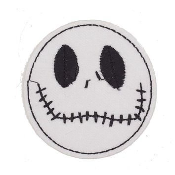 Nightmare Before Christmas Cool Embroidered Iron On Patch Children Cartoon Applique Badge DIY Garment Accessories