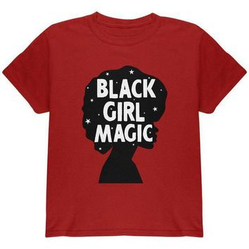 ESBGQ9 Black History Month Black Girl Magic Afro Youth T Shirt