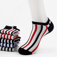Mens Womens Unique Stripes Casual Sports Ankle Socks (5 PCS)