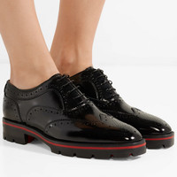 Christian Louboutin - Charletta patent-leather brogues
