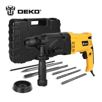 DEKO 220V 26mm 4 Functions AC Electric Rotary Hammer with BMC 5pcs Accessories Impact Drill Power Drill